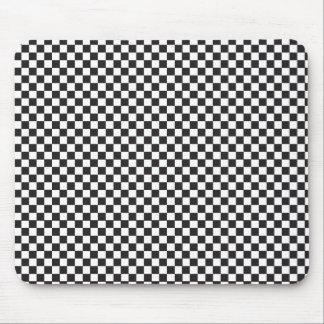 Black & White checkerboard pattern Mouse Pad