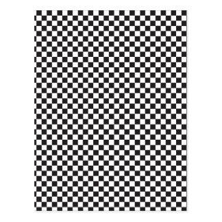 Black & White checkerboard pattern Postcard