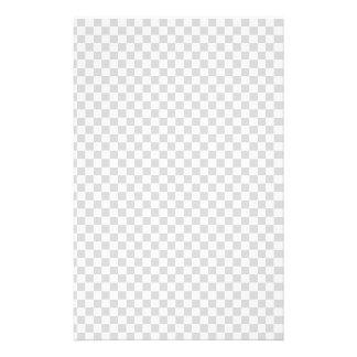 Black & White checkerboard pattern Stationery