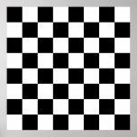 Black, White Checkerboard Poster