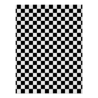 Black & White Checkerboard Poster