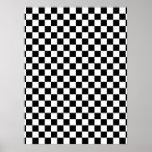 Black & White Checkerboard Print