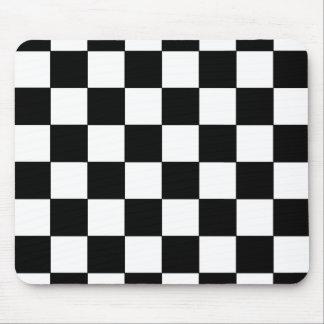 Black White Checkerboard Retro CricketDiane Mouse Pad
