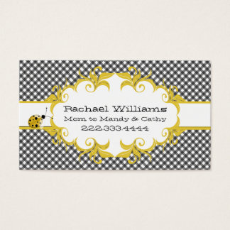 Black & White Checkered Custom Mommy Card