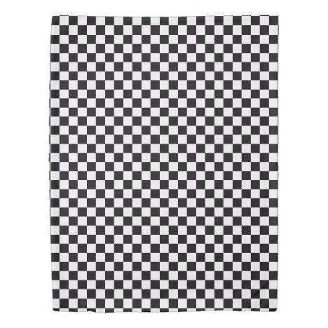 Black White Checkered Duvet Cover