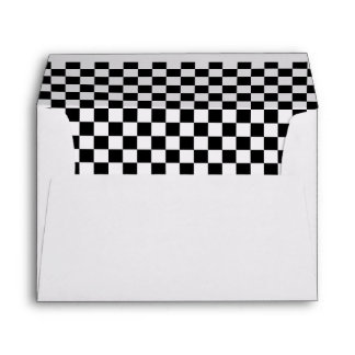 Black White Checkered Flags Pattern Envelope