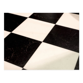 Black & White Checkered Floor Postcard