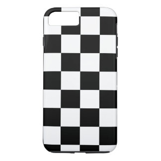 Black & White Checkered Pattern iPhone 7 Plus Case