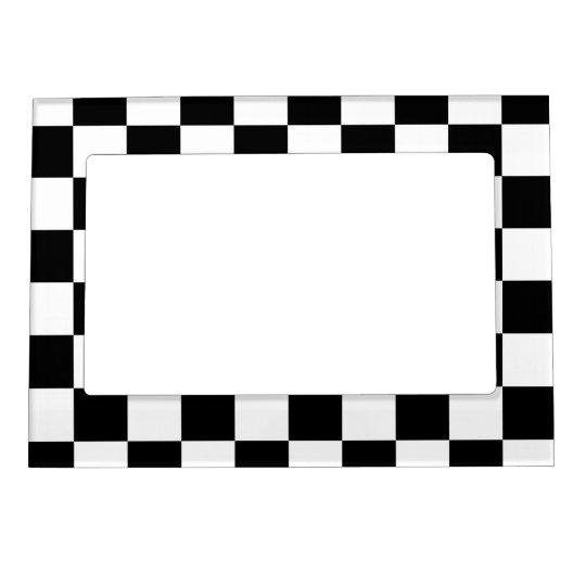 Black White Checkered Pattern Magnetic Frame Zazzlecom