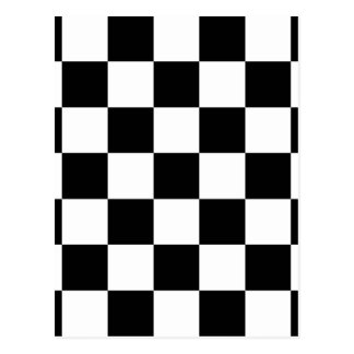 Black & White Checkered Pattern Post Cards