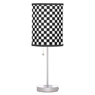 black&white checkered pattern table lamp