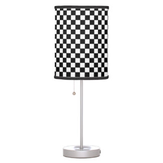 black&white checkered pattern table lamps