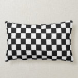 "Black White checkered - Pillow<br><div class=""desc"">Black white checkered graphic design</div>"
