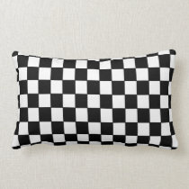 Black White checkered - Pillow