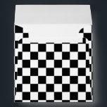 "Black &amp; White Checkered Race Invitation Envelope<br><div class=""desc"">Black &amp; White Checkered Race Invitation Envelope</div>"