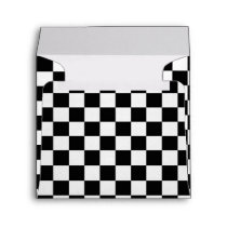 Black & White Checkered Race Invitation Envelope