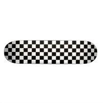 Black& White Checkered Skateboard Deck