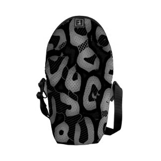 Black White Cheetah Courier Bag