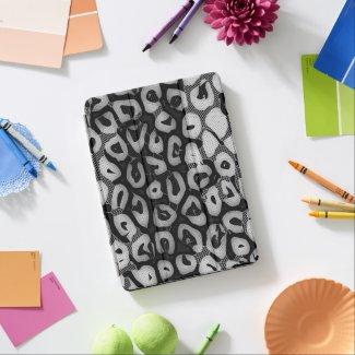 Black White Cheetah iPad Air Cover