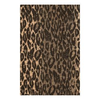 Black&White Cheetah Cork Fabric