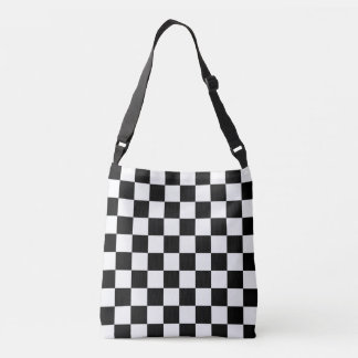 Black White Chessboard Pattern Tote Bag
