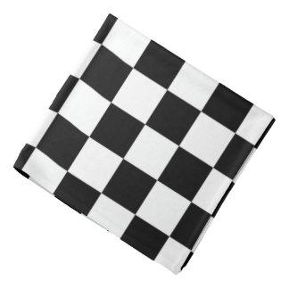Black White Chessboard Pattern Bandana