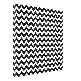Black White Chevron Abstract Pattern Canvas Print