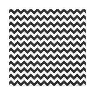 Black & White Chevron Canvas