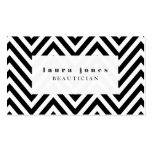 Black + White Chevron Fashion Stylist Template Business Cards