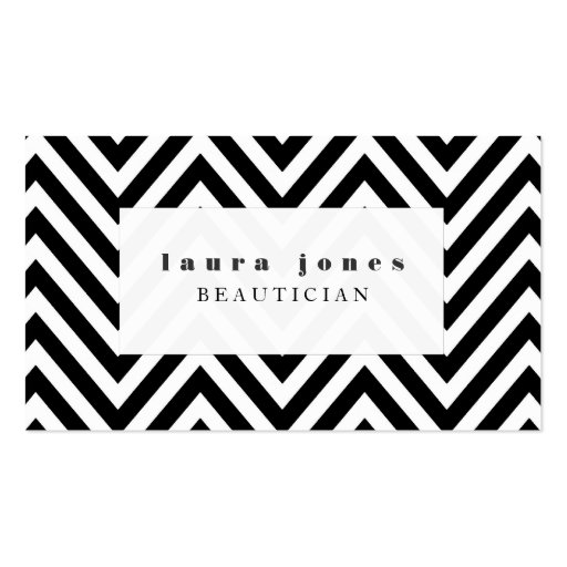 Fashion stylist business card business card templates bizcardstudio black white chevron fashion stylist template business cards colourmoves