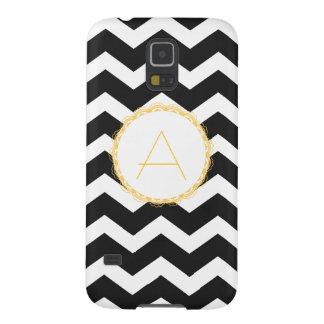 Black & White Chevron Galaxy Nexus Case (Monogram)