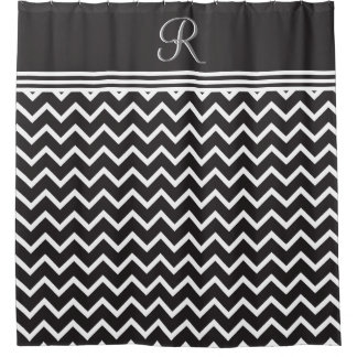 Calligraphy Shower Curtains Zazzle - Black and white chevron shower curtain