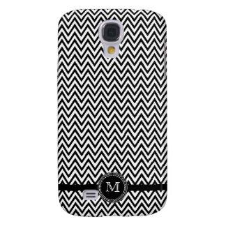 Black white chevron monogram iphone 3 case