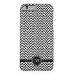 Black white chevron monogram iPhone 6 case