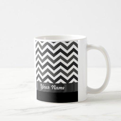 Black & white chevron mugs