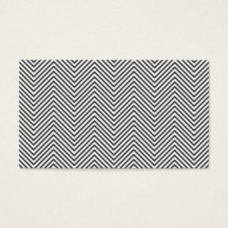 BLACK & WHITE CHEVRON PATTERN Business Card