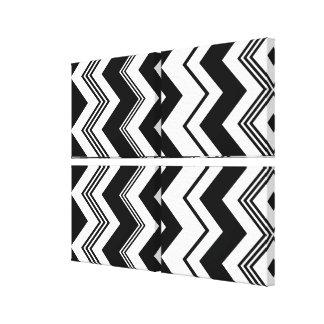 Black White Chevron Pattern Canvas Print