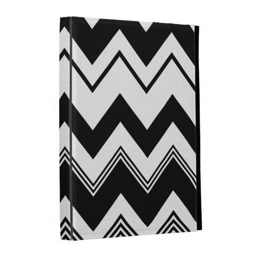Black White Chevron Pattern iPad Folio Cover