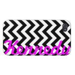 Black White Chevron Pattern iPhone 4/4S Cover