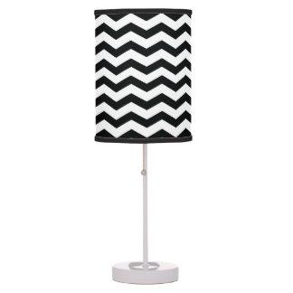 Black White Chevron Pattern Lamps