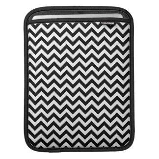 Black White Chevron Pattern Sleeve For iPads