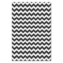 Black & White Chevron Pattern Tissue Paper