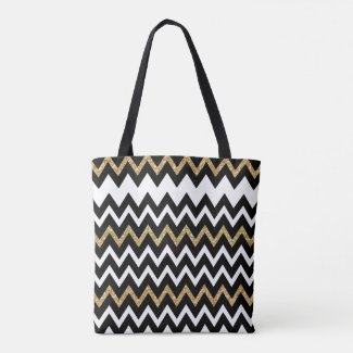 Black & White Chevron Pattern