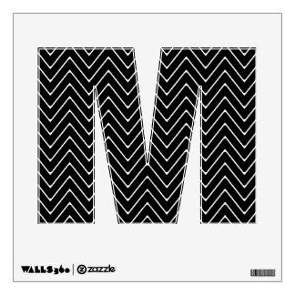 Black White Chevron Pattern Wall Decal