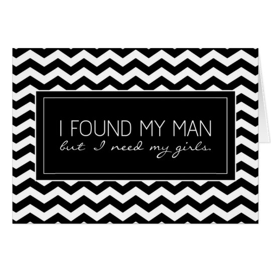 Black & White Chevron Stripe Junior Bridesmaid Card