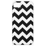 Black White Chevron Stripes iPhone 5 Case