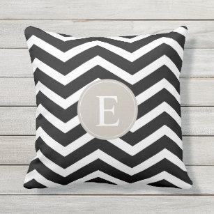 Black White Brown Outdoor Pillows Cushions Zazzle