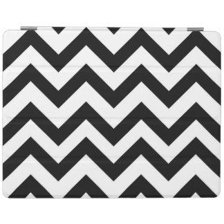 Black White Chevron Zig Zag iPad Smart Cover