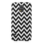 Black White Chevron Zigzag Stripes Galaxy S5 Cover