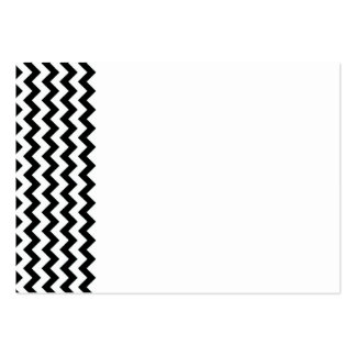 Black White Chevrons Business Card